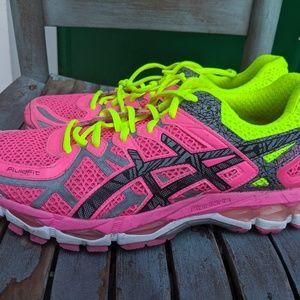 Women's Asics Bright Pink Running Sneakers 10M EUC